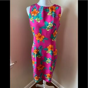 Dana Buchanan vintage sleeveless silk dress EUC